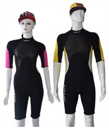 Lycra Diving Suits Canada - Neoprene 3mm Scuba Dive Wetsuit Shorty Men and women Spearfishing Surfing Diving Swimming Equipment Jumpsuit Diving Suit