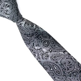 Skinny tie paiSley online shopping - Slim Men Tie Style Silk Jacquard Skinny Tie Business Wedding Party Casual Ties For Men E