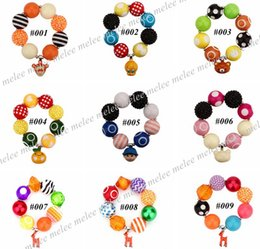 Bubblegum Charms NZ - Xmas INS Girls Chunky Bracelet Bubblegum Charms Kids Bead Necklace DIY Gumball Beads Children Jewelry Accessories for Party Gifts