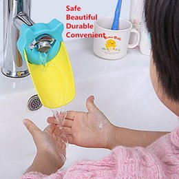 Wholesale Cute Bathroom Sink Faucet Chute Extender Crab Children Kids Washing Hands Blue Yellow Pink