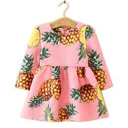 $enCountryForm.capitalKeyWord Australia - Kids Girl Dress Baby Girls Pineapple Print Dresses 2-6Year Infant Princ0ess Full Sleeve Party Dress Costume 2018 Children Clothes B859