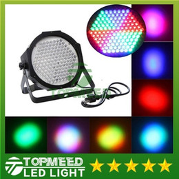 DHL FREE shipping Super bright High Power high quality 127 LED DMX512 Led lamp RGB Par Light Led Flat DJ Equipments Controller 5050 on Sale