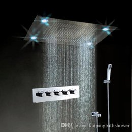Luxury Led Light Shower Faucet,600*800mm Recessed Ceiling Mounted Color  Changing Shower Faucet