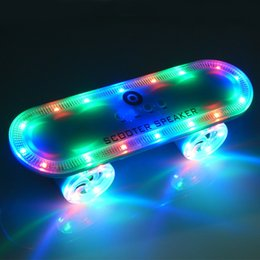 Discount bluetooth scooters - Scooter Bluetooth Wireless Speaker with Led Light,Skateboard Stereo Speakers Portable MP3 Player Support USB TF Card Han