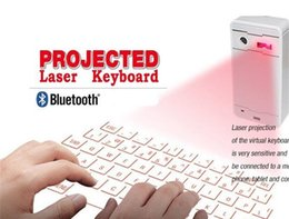 bluetooth keyboard for android phone NZ - Free Ship Mini Wireless Laser Projection Virtual Bluetooth laser Keyboard with Mouse Speaker Function for Android IOS phones Tablet Laptop
