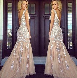 $enCountryForm.capitalKeyWord Canada - Hot Boat Neck Prom Dresses Appliques White Lace Mermaid Sexy Formal Long Evening Party Dress Cocktail Gown