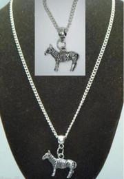 $enCountryForm.capitalKeyWord NZ - Vintage Silver Animal Zebra Charm Choker Collar Necklaces&Pendants For Women Gift DIY Jewelry Fashion Accessories Souvenir Hot Sale Q42