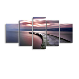 Art Canvas Prints Canada - 5 pieces high-definition print abstract canvas oil painting poster and wall art living room picture PL5-201