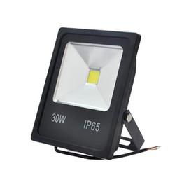 Ultrathin Floodlight UK - ultrathin LED flood light 30W 50W Black shell AC85-265V waterproof IP65 Floodlight Spotlight Outdoor Lighting