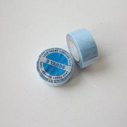 Ingrosso Nastro adesivo Super Bicolore da 5 Rotoli per Estensioni dei Capelli Nastro Adesivo per Parrucca Nastro per Parrucca Blu 1.9cmx3 Iarde Rubinetto per Capelli