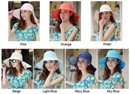 Orange Sun Visors Canada - Summer Hiking Outdoor Ladies' Sun Visor Wide Brim Neck Cover Foldable Flap Hat Cap