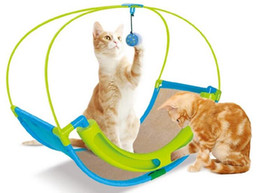 exercise toys NZ - Cat Toy 2 In 1 Cat Toy Pet Exercise Cradle Cat Bed Sofa With Ball Toys Hammock Luxury