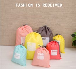 lingerie storage bags Canada - Wholesale- Hot 4pcs lot Waterproof Storage Bags For Travel Shoe Laundry Lingerie Makeup Pouch For Cosmetic Underwear Organizer