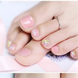 Blue toe nail art online blue toe nail art for sale wholesale 24pcs set fake nails all kinds of patterns french style tips for nail art display free glue xcp yw 02 prinsesfo Choice Image