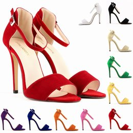 $enCountryForm.capitalKeyWord Canada - Wholesale-LADY SEXY PARTY OPEN TOE BRIDAL Flock HIGH HEELS SHOES SANDALS US SIZE 4.5-11.5 10 color 102-2