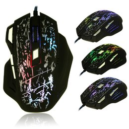 Chinese  3200 DPI 7 Buttons LED Optical USB Wired Gaming Mouse Mice For Pro Gamer MOUSE H210517 manufacturers
