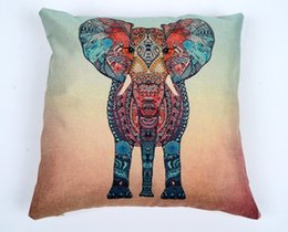 elephant textiles NZ - Pillow Covers Cushions Colorful Elephant Office Sofa Chair Home Textiles Pillowcase Without Pillow Core Home Decoration