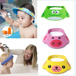 Hair Visor Caps Canada - Adjustable Baby Hat Toddler Kids Shampoo Bathing Shower Cap Wash Hair Shield Direct Visor Caps For Children Baby Care 3 Colors(0-5years)