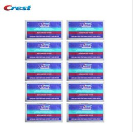 Wholesale CREST Whitestrips D Advanced Vivid Luxe Glamorous Teeth Whitening Strips Strips pouch No box Included