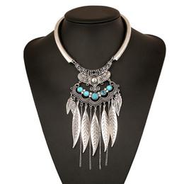 Venta al por mayor de Maxi Bohemia borla collares de la energía colgantes Boho moda Vintage gran joyería étnica Collier Bijoux largo para múltiples mujeres 2017 cadena