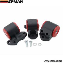 Wholesale NEW H G Auminum Billet Motor Mounts Kit For Honda CIVIC 92-95   for INTEGRA 94-01 3-BOLT CXX-EM002BK
