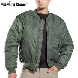 Wool Blend Military Jacket Canada - Air Force Fly Pilot Jacket Military Airborne Flight Tactical Bomber Jacket Men Winter Warm Aviator Motorcycle Down Coat