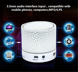 hot audio box mp3 player Canada - Hot sale Universal wireless HiFi Bluetooth Speaker Music Sound Box Subwoofer Mini Portable LED Speaker hand free for Mobile Phone MP3 Player