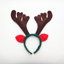 orejas cuernos de reno con banda de nios de navidad accesorio de adultos fiesta de navidad del sombrero del traje del traje de navidad de la novedad de