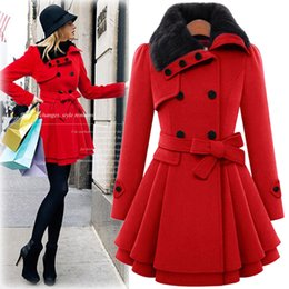 257fc5c723e08 Wool Skirted Coat Canada - 2018 Plus Size Women Winter Woolen Coat Fashion  Elegant Warm Coat