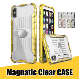 TransparenT plasTic shell online shopping - Clear Phone Cases for iPhone X Plus Hybrid TPU PC Magnetic Metal Shockproof Cover Shell for Samsung Galaxy Note8 S8 S8plus