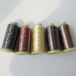 Fil de couture de fil de tissage en nylon 2000m pour trames de cheveux clip cheveux extensions de cheveux professionnels outils plus de couleurs en Solde