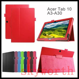 $enCountryForm.capitalKeyWord Canada - Leather Folio Flip Case Pouch for Acer Iconia Tab One 10 A3-A20 A30 B1-750 B1-820 Talk S A1-724 Magnetic
