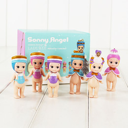 sonny angels wholesale Australia - 8cm 6pcs set Mini Sonny Angel PVC Action Fgure Collectable Model Toy for kids gift free shipping retail
