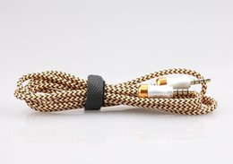 Pink Nylon Cord Canada - Braided Audio Auxiliary Cable 1M 3.5mm Wave AUX Extension Cable Male To Male Stereo Car Nylon Cord Jack for PC Table Ipod