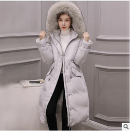 Fashion Trends Hair Canada - 2016 The new trend of women's long section of fashion hair collar waist waist thickening Slim down jacket