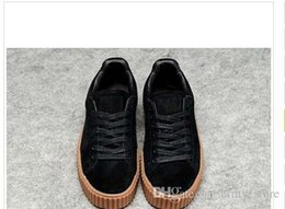 2016 Rihanna x Suede Creeper Black White 8 Colors Women Men Running Shoes 6b85a41ae