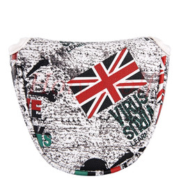 Chinese  UK Flag Golf Mallet Putter Head Cover ( Red and White) manufacturers