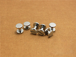 $enCountryForm.capitalKeyWord Canada - free shipping 10mm Chicago Chrome plated wallet bag screw brass belt screw Rivet diy handmade fastener garmnet hardware leather part