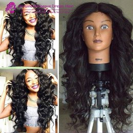 $enCountryForm.capitalKeyWord NZ - Natural black 8-24'' inch large stock high quality 150density lace front wigs&glueless full lace wigs bleached knots with baby hair