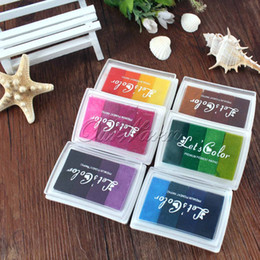 $enCountryForm.capitalKeyWord NZ - Multicolour Creative DIY Oil Rubber Stamps Ink Pad for Wedding Decoration Party Favors and Gifts Craft Supplies Fingerprint Tree