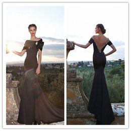 $enCountryForm.capitalKeyWord Canada - 2019 Bolero Cap Sleeves Backless Prom Dresses Short Sleeve Crystal Mermaid Evening Dresses Long Prom Dresses Robe de soiree Custom Made