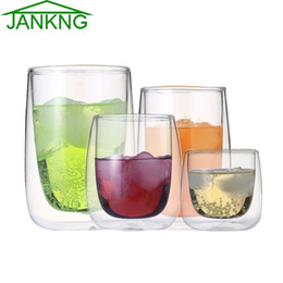 $enCountryForm.capitalKeyWord Canada - JANKNG 1 Pcs Clear Handmade Heat Resistant Double Wall Glass Tea Drink Cup Healthy Drink Mug Coffee Cup Insulated Clear Glass