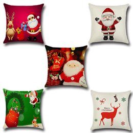 christmas pillows Canada - New Style X-Mas Zip Pillow Case Square Christmas Series Pillow Cases Cute Father Christmas Winter Reindeer Home Decor Gift 5 Printing