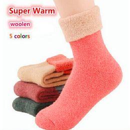 $enCountryForm.capitalKeyWord NZ - Free Shipping 2016 Winter socks cashmere women's wool socks thermal thicken winter socks towel hemming warm socks 5 pairs