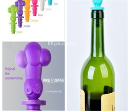 silicone wine plug 2019 - New Lovely decoration Wine plug bottle cap gift originality cook cheap silicone wine plug