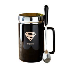 $enCountryForm.capitalKeyWord UK - Cup 460ml Ceramic Mug for Coffee Milk Water Tea With Spoon With Cap