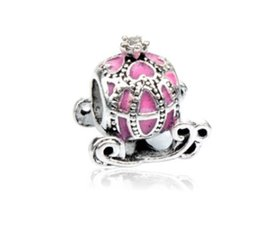 Chinese  Fit Pandora Charm Bracelet European Silver Bead Charms Cinderella's Pumkin Car Beads DIY Snake Chain For Women Bangle & Necklace Jewelry manufacturers