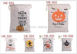 $enCountryForm.capitalKeyWord Canada - DHL Free 6 style Halloween Large Canvas bags cotton Drawstring Bag With Pumpkin devil spider Hallowmas Gifts Sack Bags