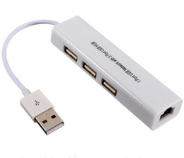 usb to rj45 ethernet with 3 Ports HUB CE Mark For macbook and ultrabook ios android Tablet pc Win 7 8 DHL on Sale