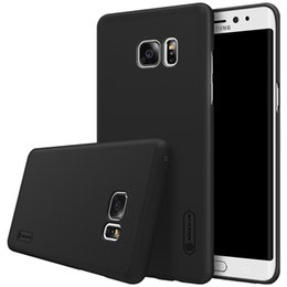Galaxy Note Protectors Canada - 100% original NILLKIN Super Frosted Shield case for Samsung Galaxy note 7 with free screen protector+Retail package